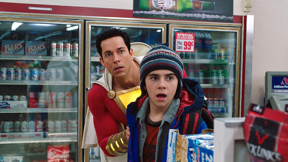 Zachary Levi and Jack Dylan Grazer in DC Films' 'Shazam!'