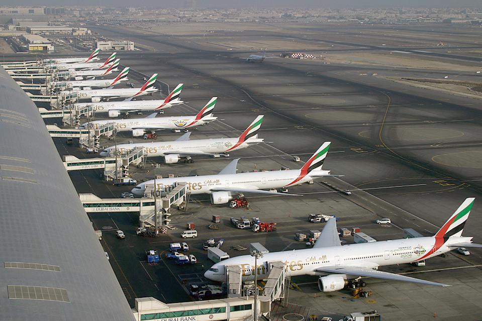 Airplane, Boeing, Dubai