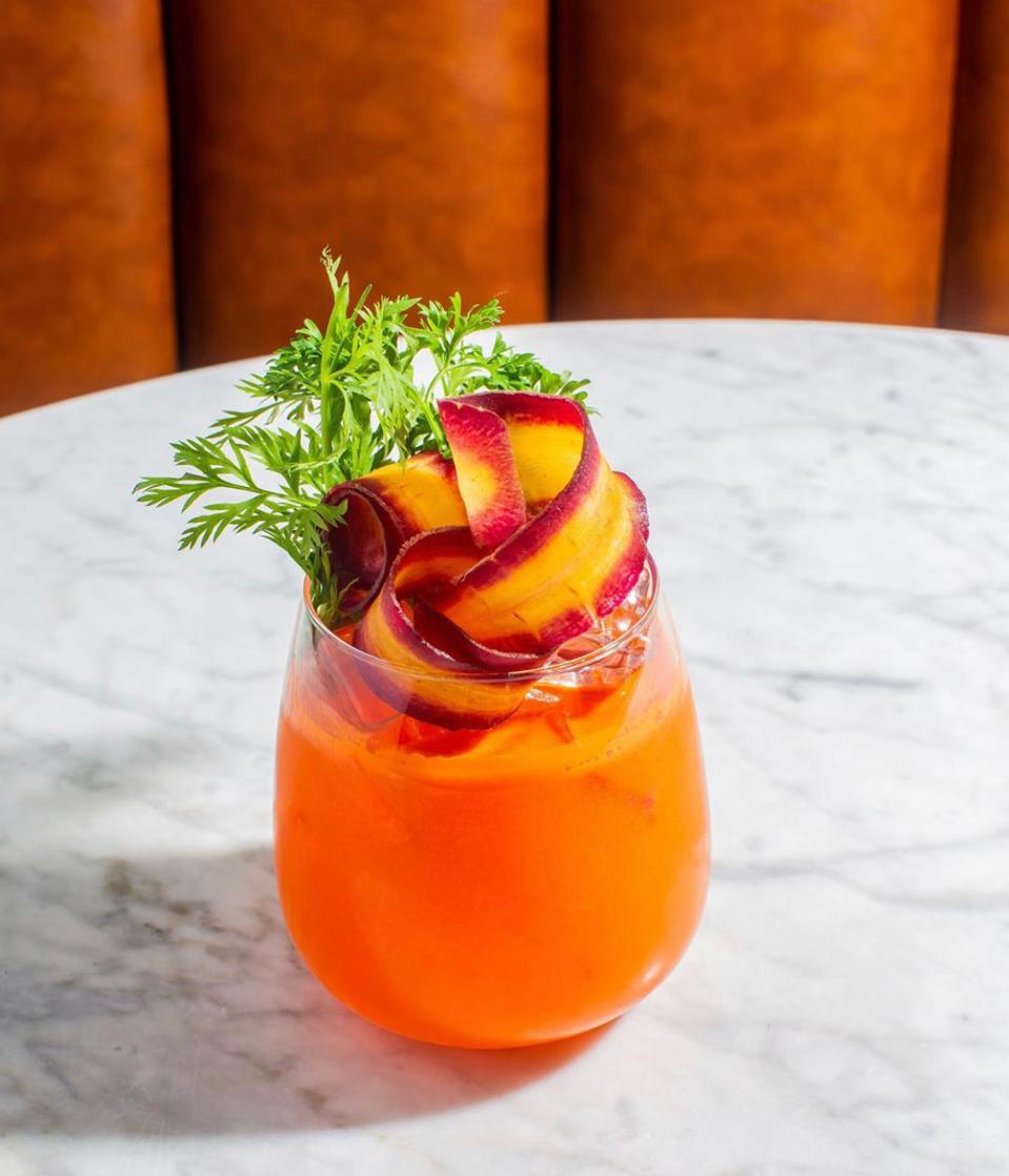 The Carrot Spritz at the Fat Radish.