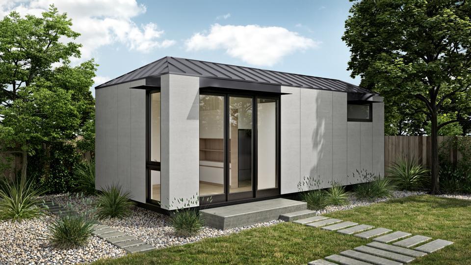 The LivingHome AD1 was designed by the Plant Prefab Design Studio.