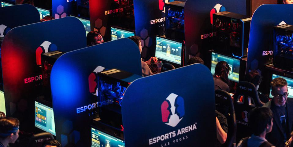 photo of competitors playing esports in Las Vegas.