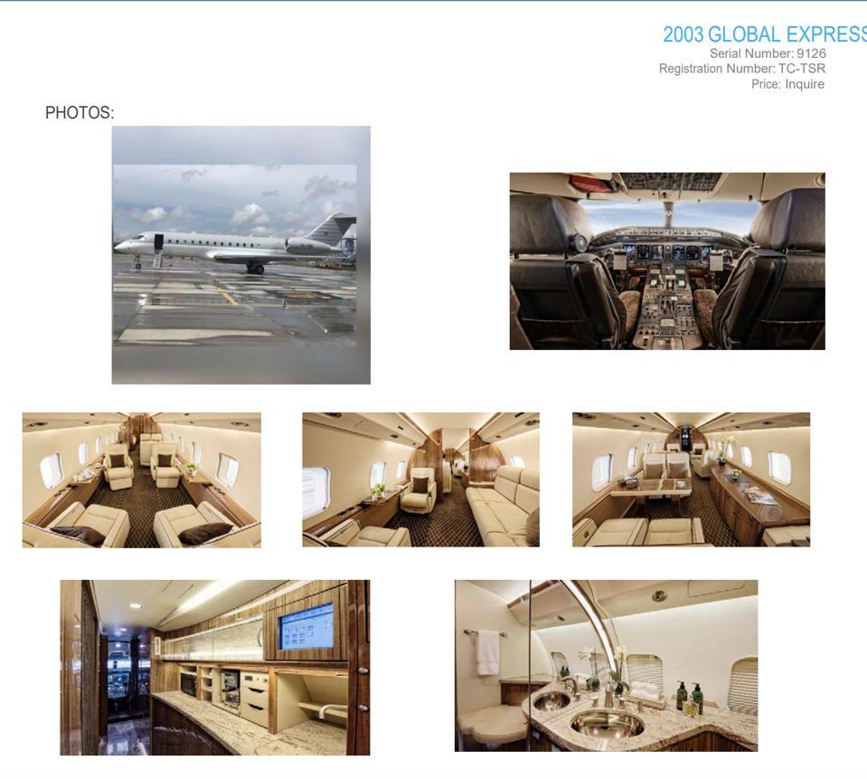 Carlos Gohsn private jet