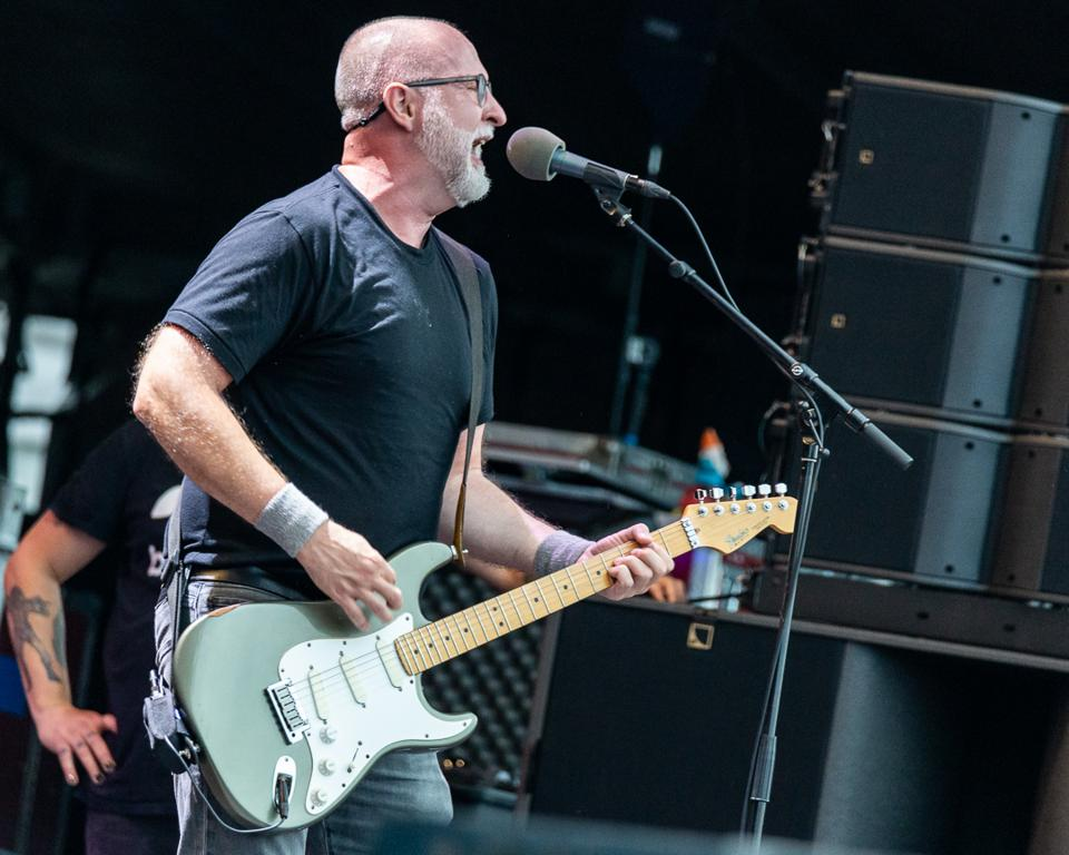 Bob Mould performs during the 15th anniversary of Riot Fest in Chicago, IL. Sunday, September 15, 2019 in Douglas Park (Photo by Philamonjaro Studio)