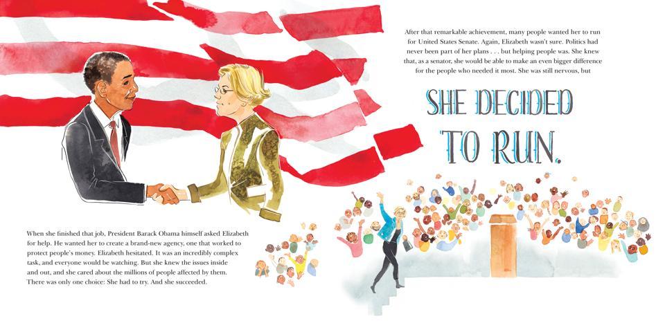 senator elizabeth warren warren's big bold plans book cover children's kidlit biography