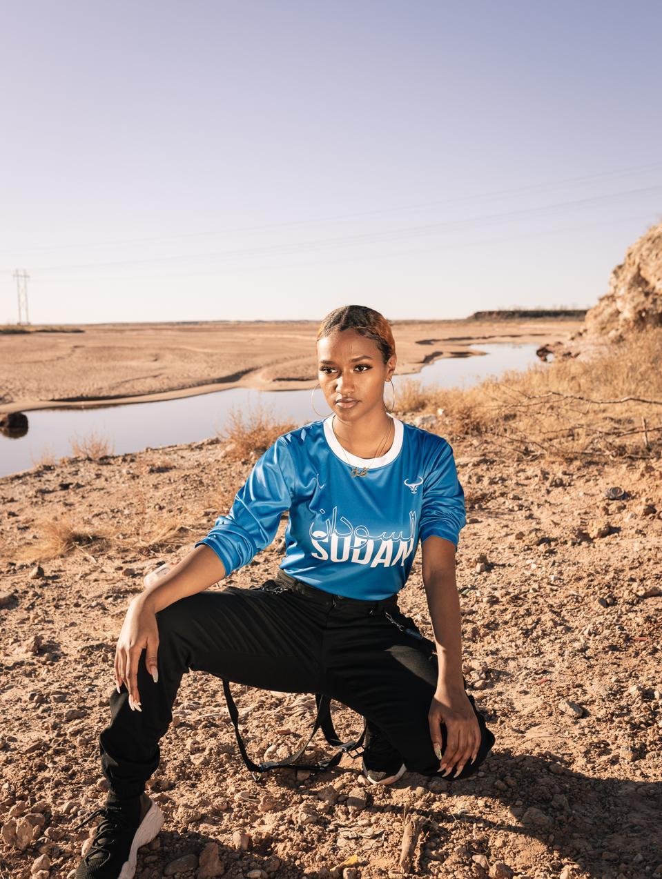 Amal Rudwan, Sudanese model wearing MIZIZI