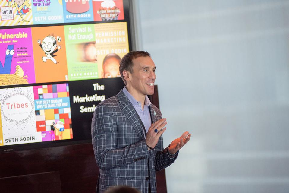 Judd Marcello, speaking at a marketing event