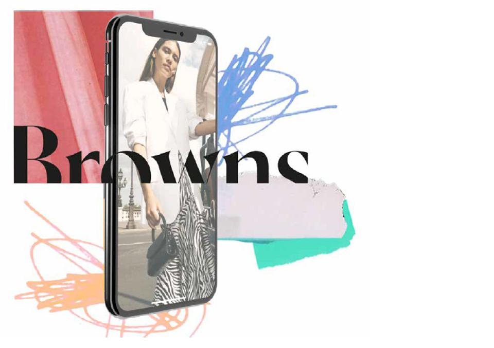 Advocating for introverts, Brown's app includes a feature allowing fashion fans to message associates when in-store, swerving spoken language barriers or the traditional luxury up-sell.