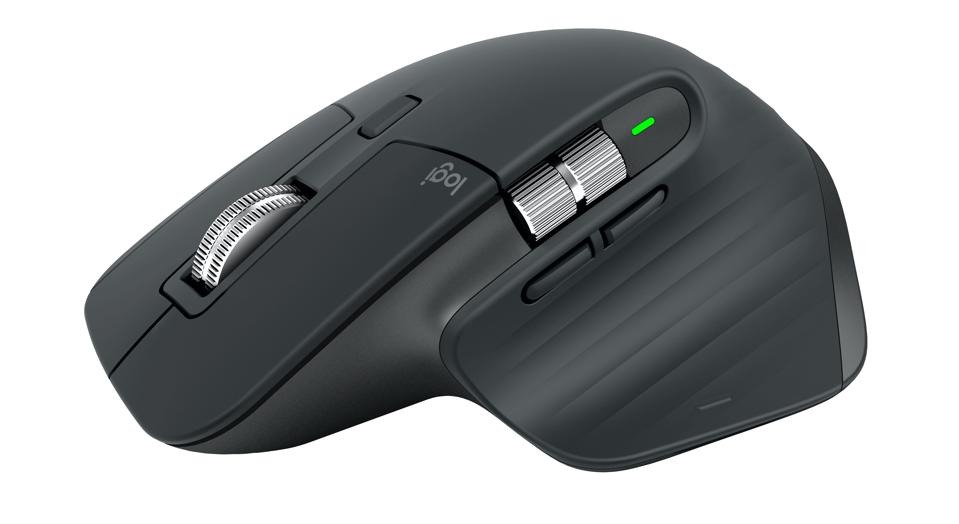 Side view of Logitech Master MX3 mouse