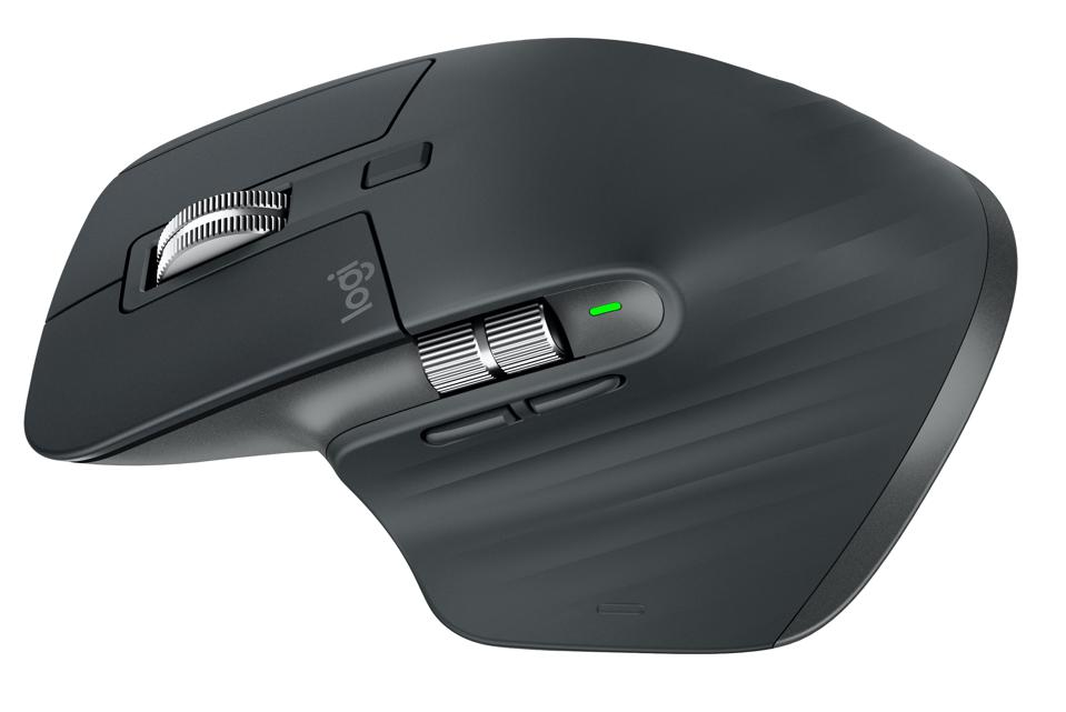 Overhead view of Logitech Master MX3 mouse
