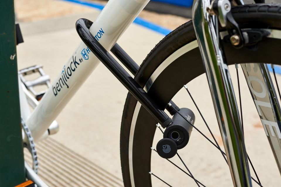 Bike lock with fingerprint sensor