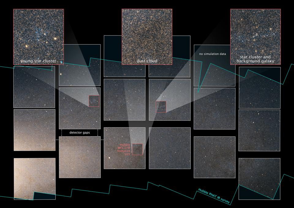 A simulated image showing how WFIRST could image the Andromeda Galaxy.