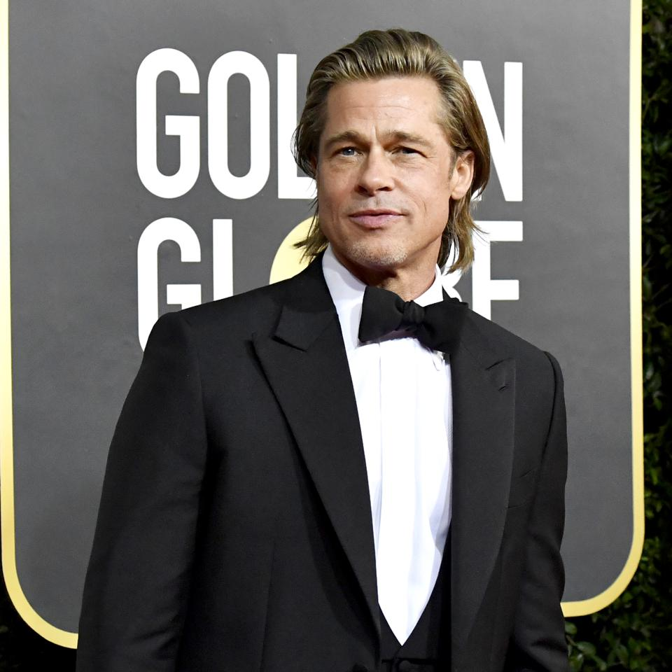 Brad Pitt won the Golden Globe for Best Supporting Actor in 'Once Upon A Time...In Hollywood'. Photo by Frazer Harrison/Getty Images.