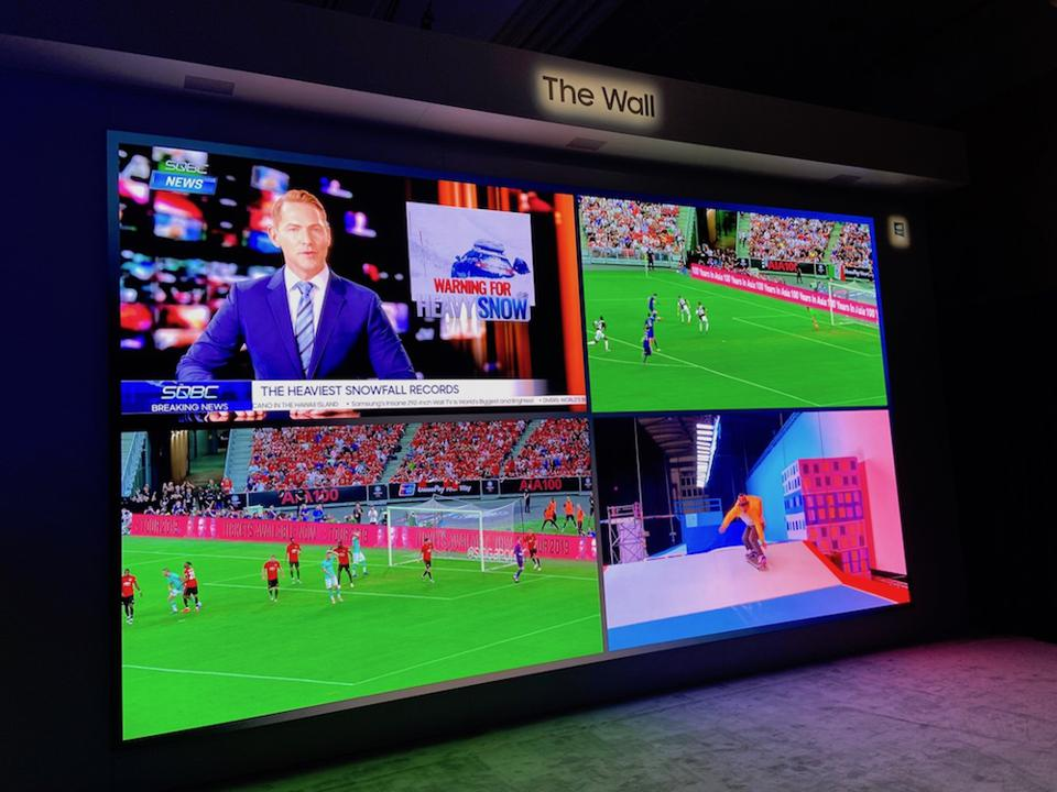 Samsung's 292-inch 8K The Wall