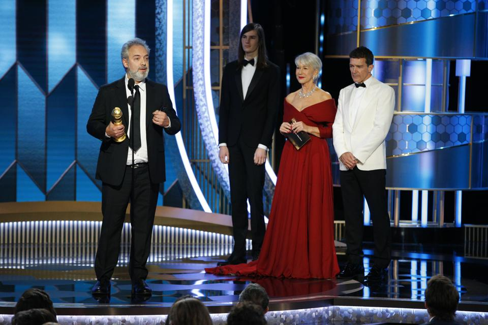 Sam Mendes' war drama '1917' won for Best Drama and he won for Best Director. Photo by Paul Drinkwater/NBCUniversal Media, LLC via Getty Images.