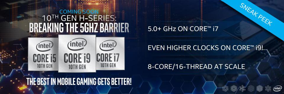Intel's new H-series laptop processors will offer speeds in excess of 5GHz