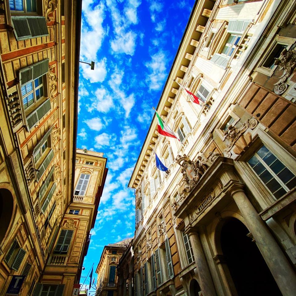 Palazzo Doria-Tursi on Via Garibaldi, Genoa