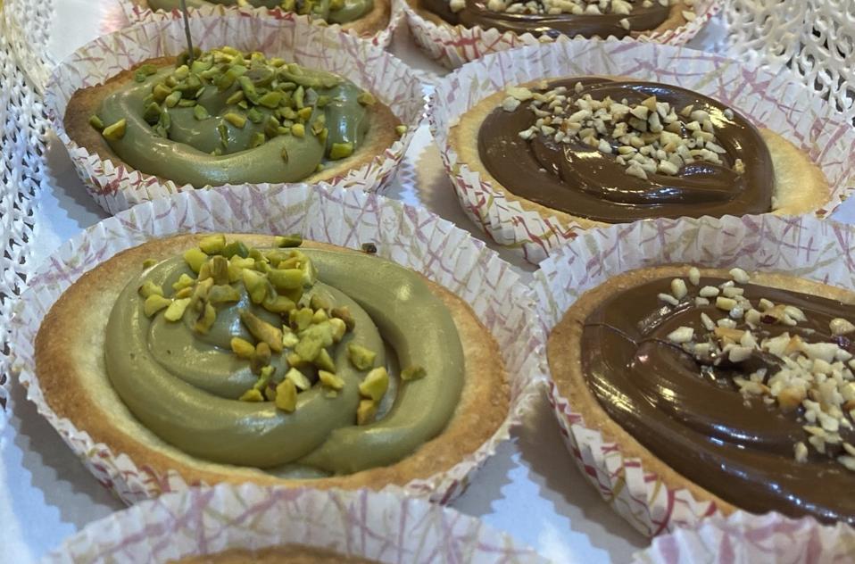 Pistachio and Nutello crostatines