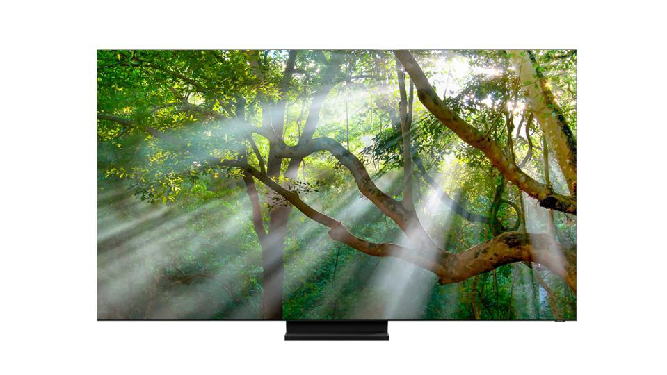 Samsung's new ″Infinity Screen″ QLED 8K TV, the Q950TS, has almost no bezel.