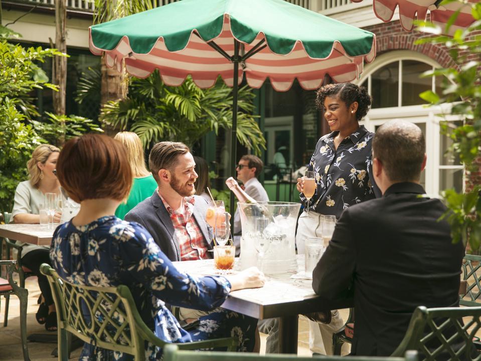 Brennan's New Orleans Restaurant Courtyard