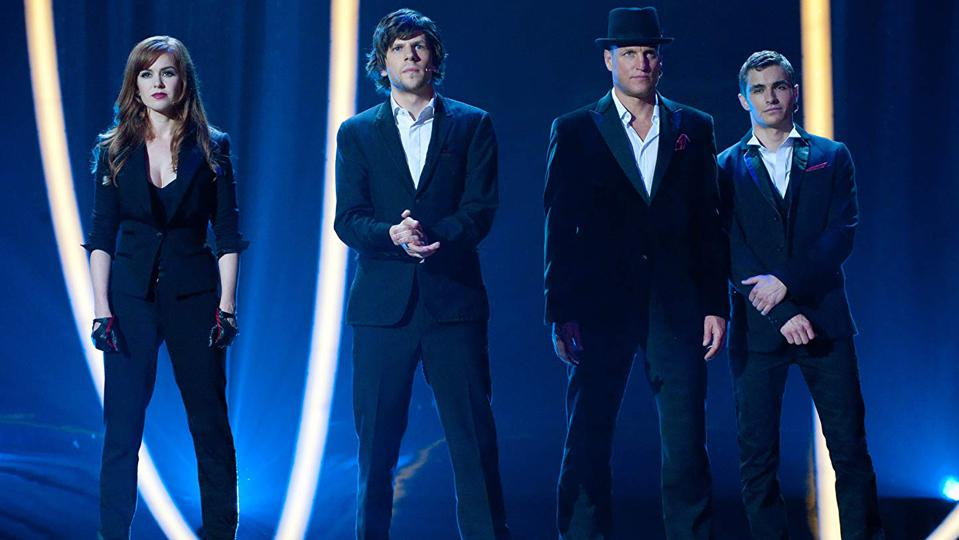 Woody Harrelson, Jesse Eisenberg, Isla Fisher, and Dave Franco in 'Now You See Me'