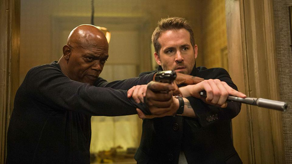 Samuel L. Jackson and Ryan Reynolds in 'The Hitman's Bodyguard'