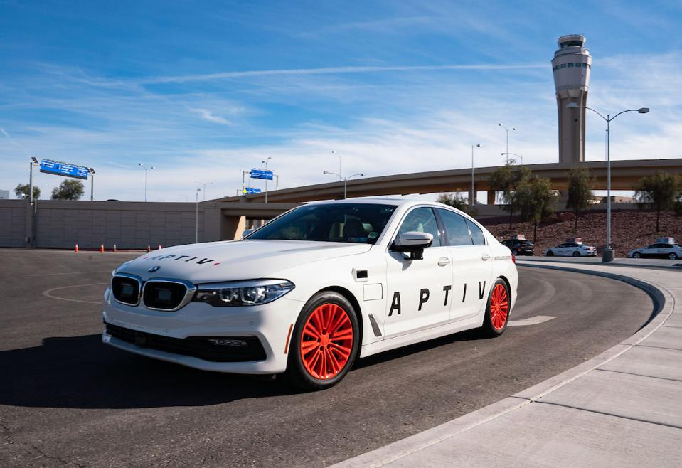 Aptiv automated vehicle prototype at McCarron Airport in Las Vegas