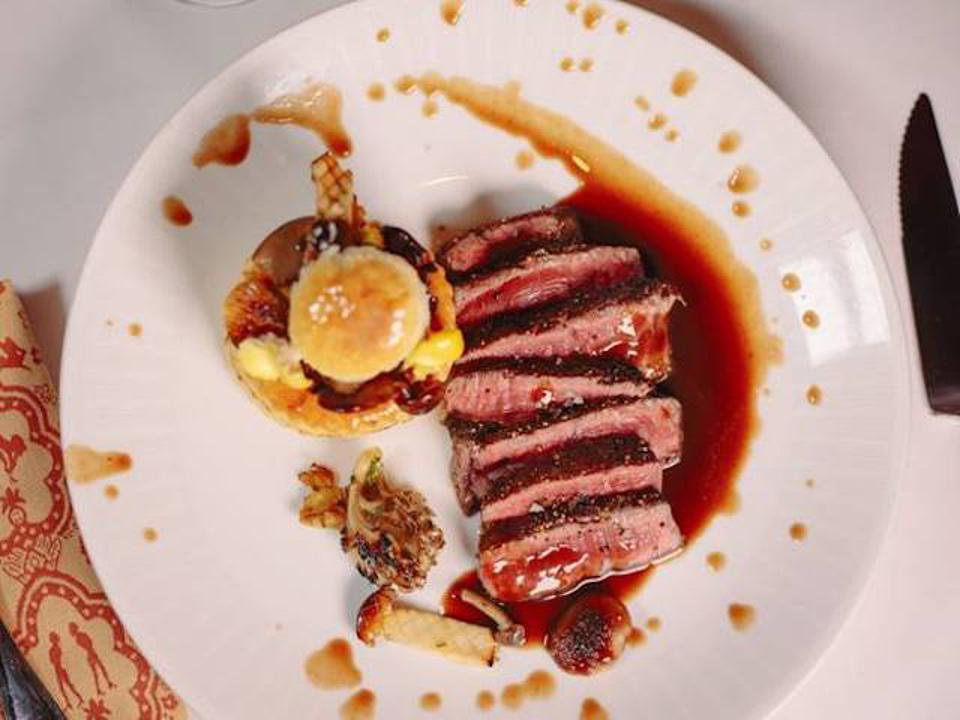 NY Demi Strip Steak at Strip House with two locations in Manhattan