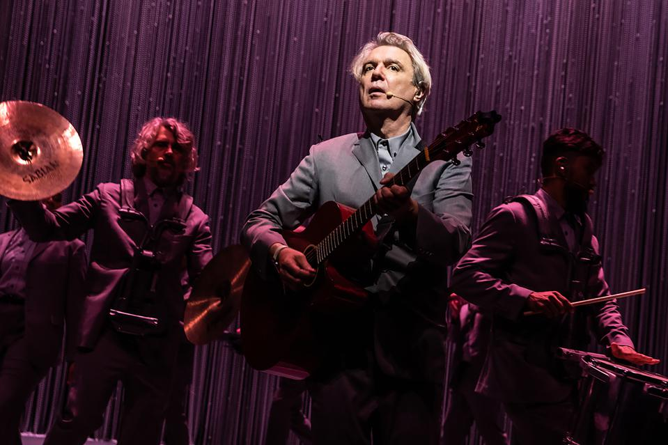 Oscar and Grammy winner David Byrne performs his Broadway show American Utopia