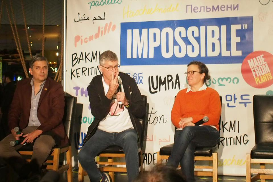 Speakers at Impossible Foods CES 2020 event