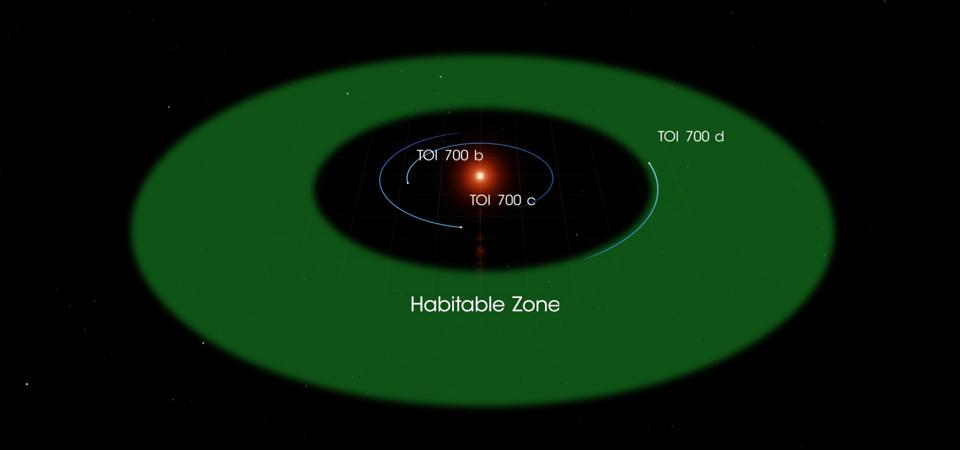 The only planet currently known to be in the habitable zone is TOI 700 d.