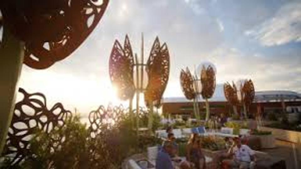 The Celebrity Edge's outdoor ″garden.″