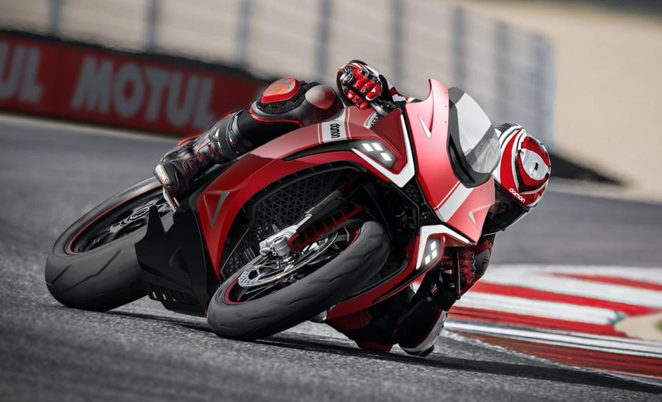 The Damon Hypersport electric motorcycle.