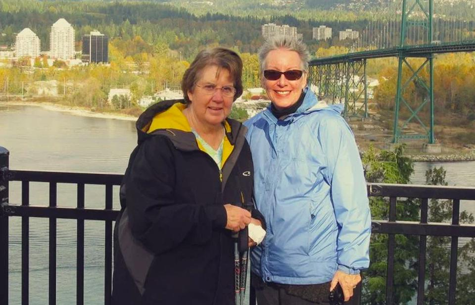 Helen Medsger and her sister, Maureen Shaw, participated in UCSF's Care Ecosystem program
