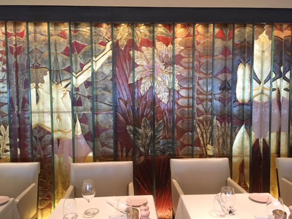 Even the restaurants abound with art