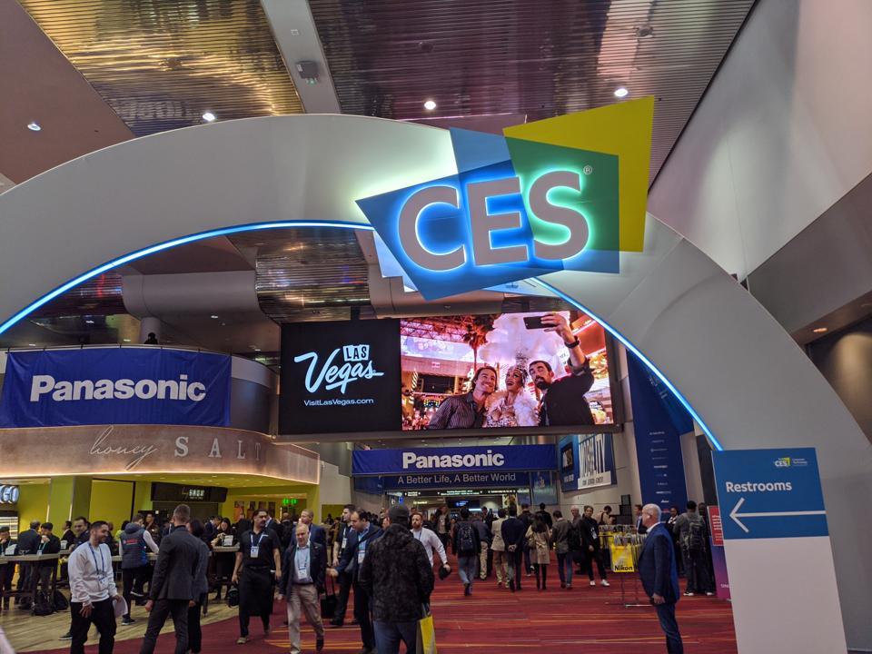 Consumer Electronics Show, CES2020 entrance gateway, Las Vegas Convention Center, January 7, 2020.