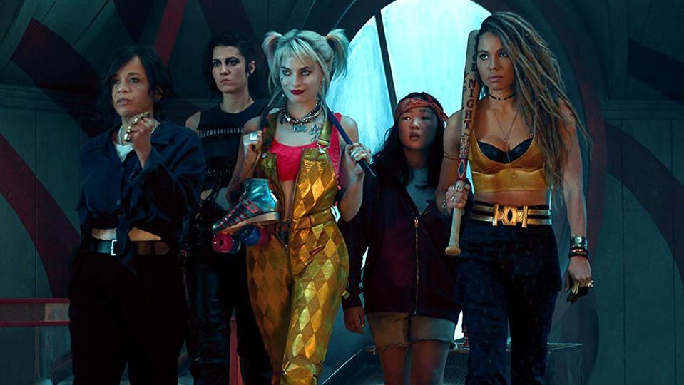 Rosie Perez, Jurnee Smollett-Bell, Mary Elizabeth Winstead, Margot Robbie, and Ella Jay Basco in 'Birds of Prey And the Fantabulous Emancipation of One Harley Quinn'