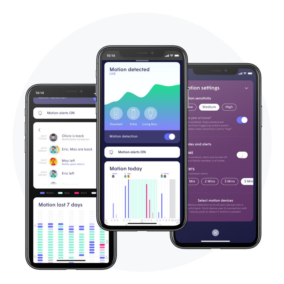 Plume Mobile App with Motion Aware Functionality