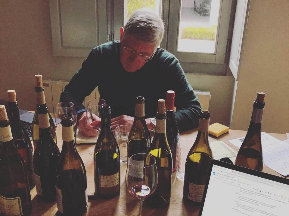 Mark Wilcox with bottles
