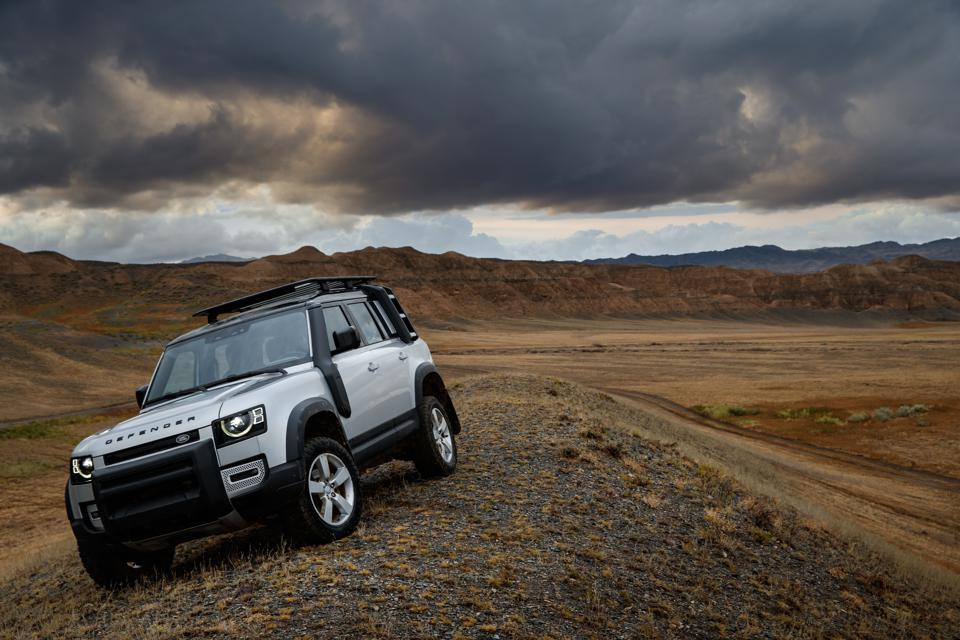 The 2020 Land Rover Defender 110 in a desert