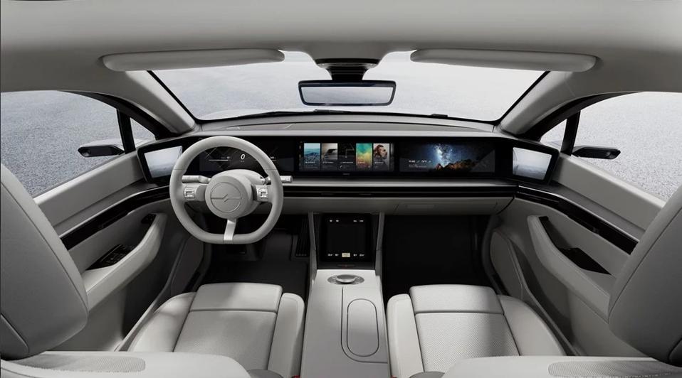 Sony Vision-S concept interior