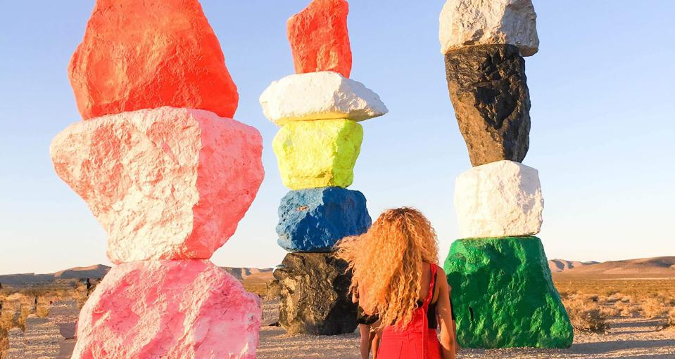 Las Vegas Seven Magic Mountains. cheap travel