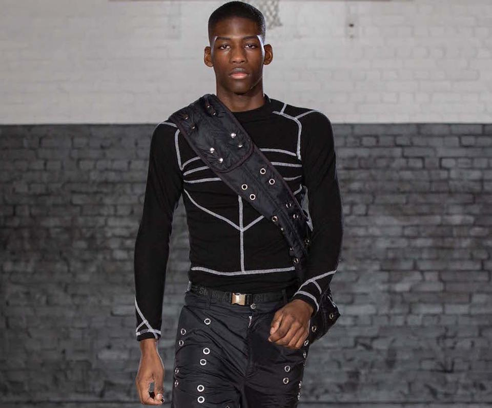One look from Studio ALCH shown at London Fashion Week Men's January 2020