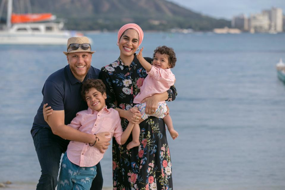 Zahra Kassam, Founder and CEO of Monti Kids and her family
