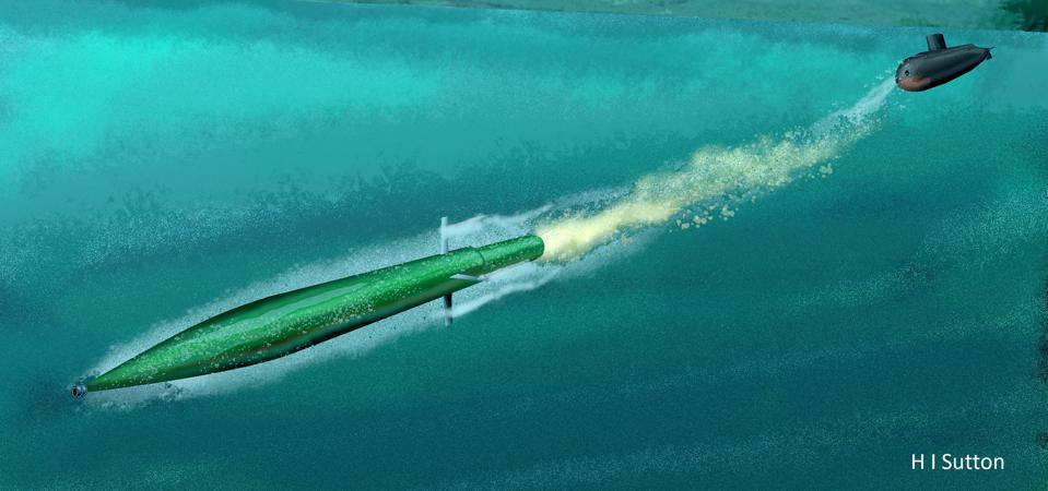 Iranian Hoot supercaviating torpedo