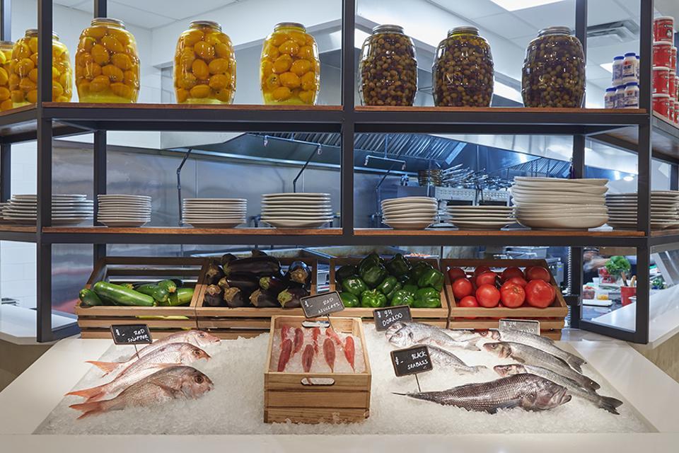 Fresh fish at Anassa Taverna