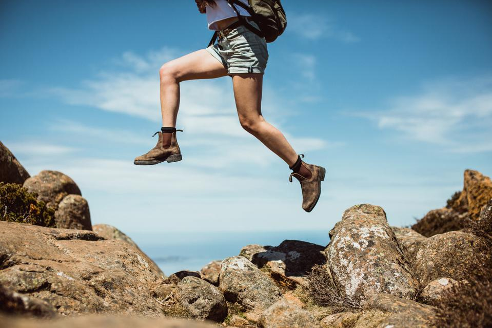 A photo of the Blundstone boots in action.