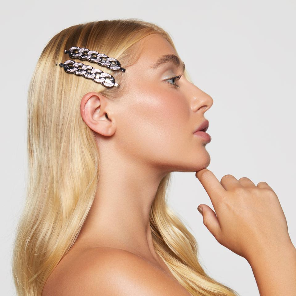 Kitsch x Justine Rhinestone Chain Bobby Pins