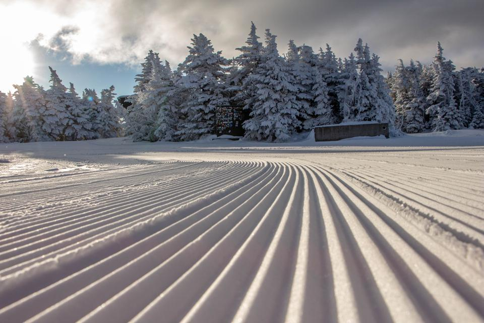 Stratton's grooming expertise results in perfect trails for cruising.