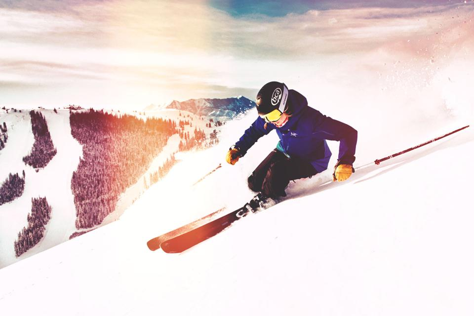 A skier makes cruising look effortless at Sun Valley Resort.