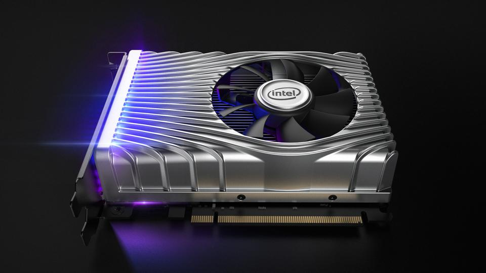 Intel's Xe DG1 discrete graphics card was on show at CES